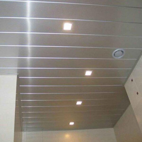 Реечный потолок 100мм металлик