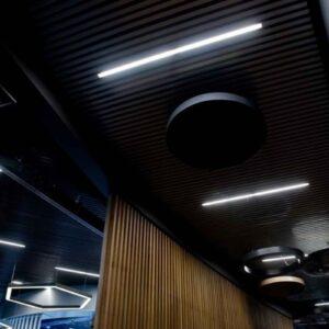 Кубообразный реечный потолок Черный