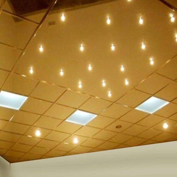 Алюминиевый Кассетный потолок Золото
