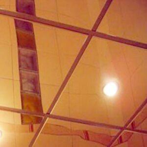 Кассетный потолок Золото