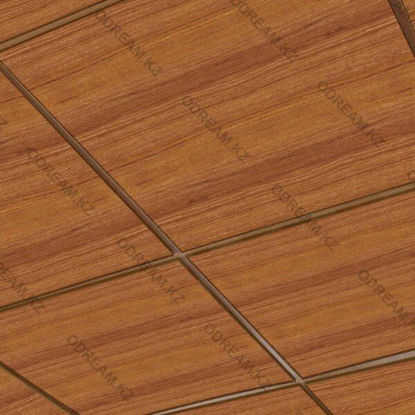 Кассетный потолок Светлое дерево