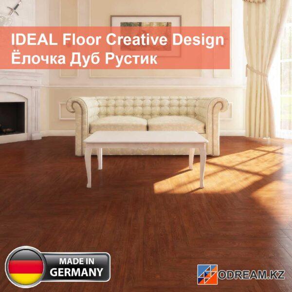 Ламинат IDEAL Floor Creative Design Ёлочка Дуб Рустик